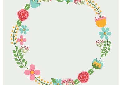 Etiquetas personalizadas con flores